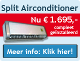 Airconditioning aanbieding