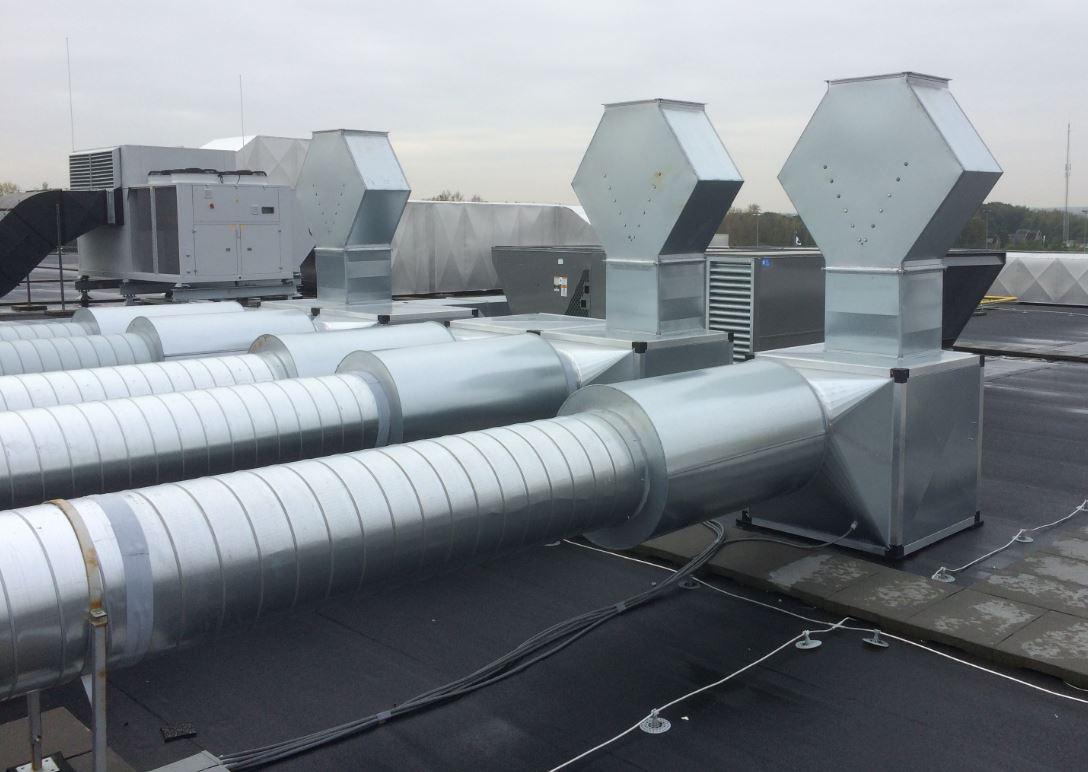 afzuiging lucht op dak